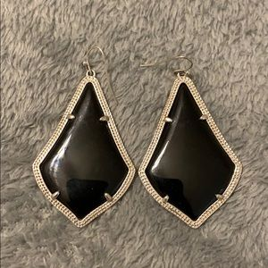 Kendra Scott Black Drop Earring